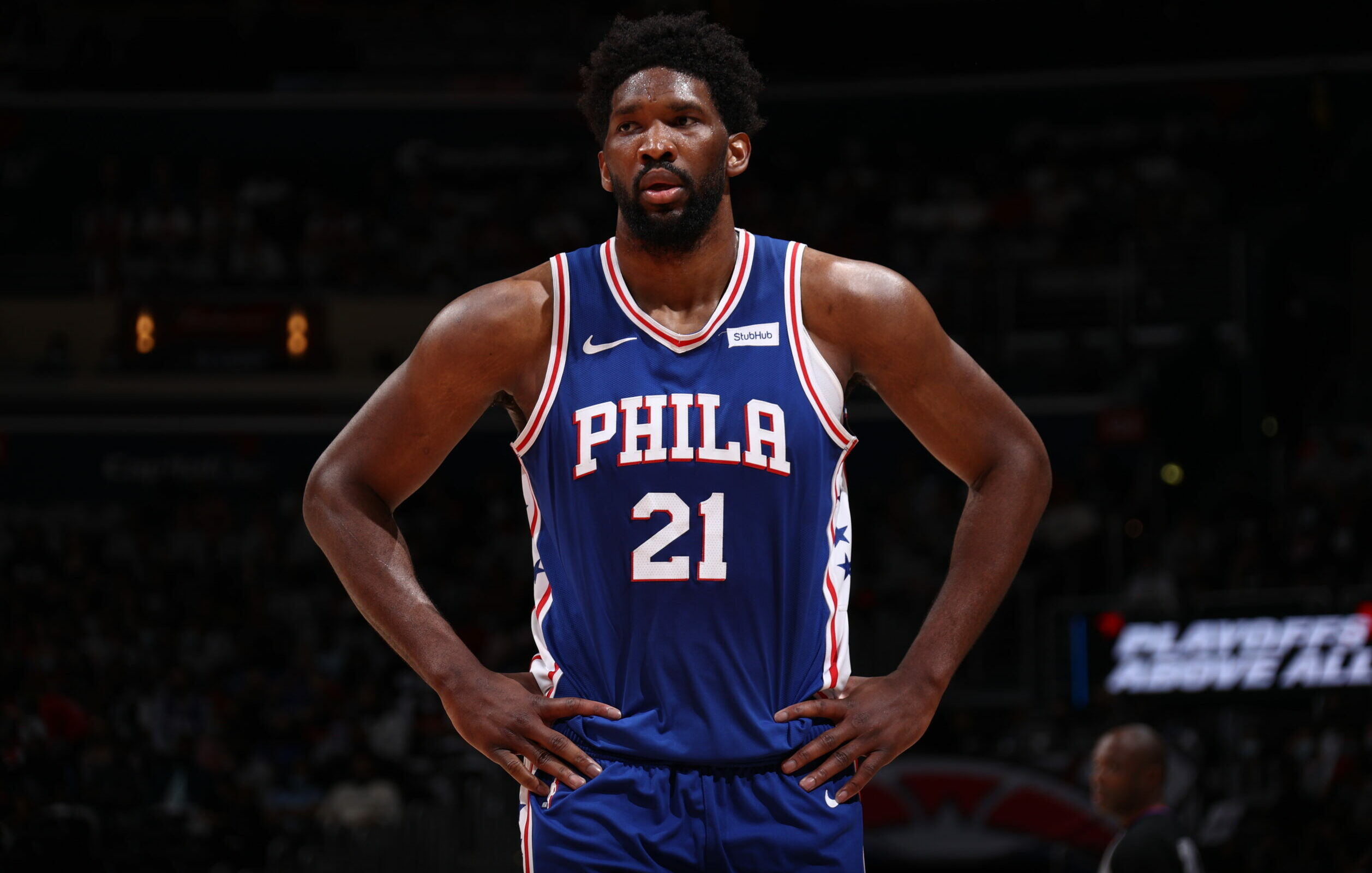 Joel Embiid sits out Game 5 with small meniscus tear in right knee