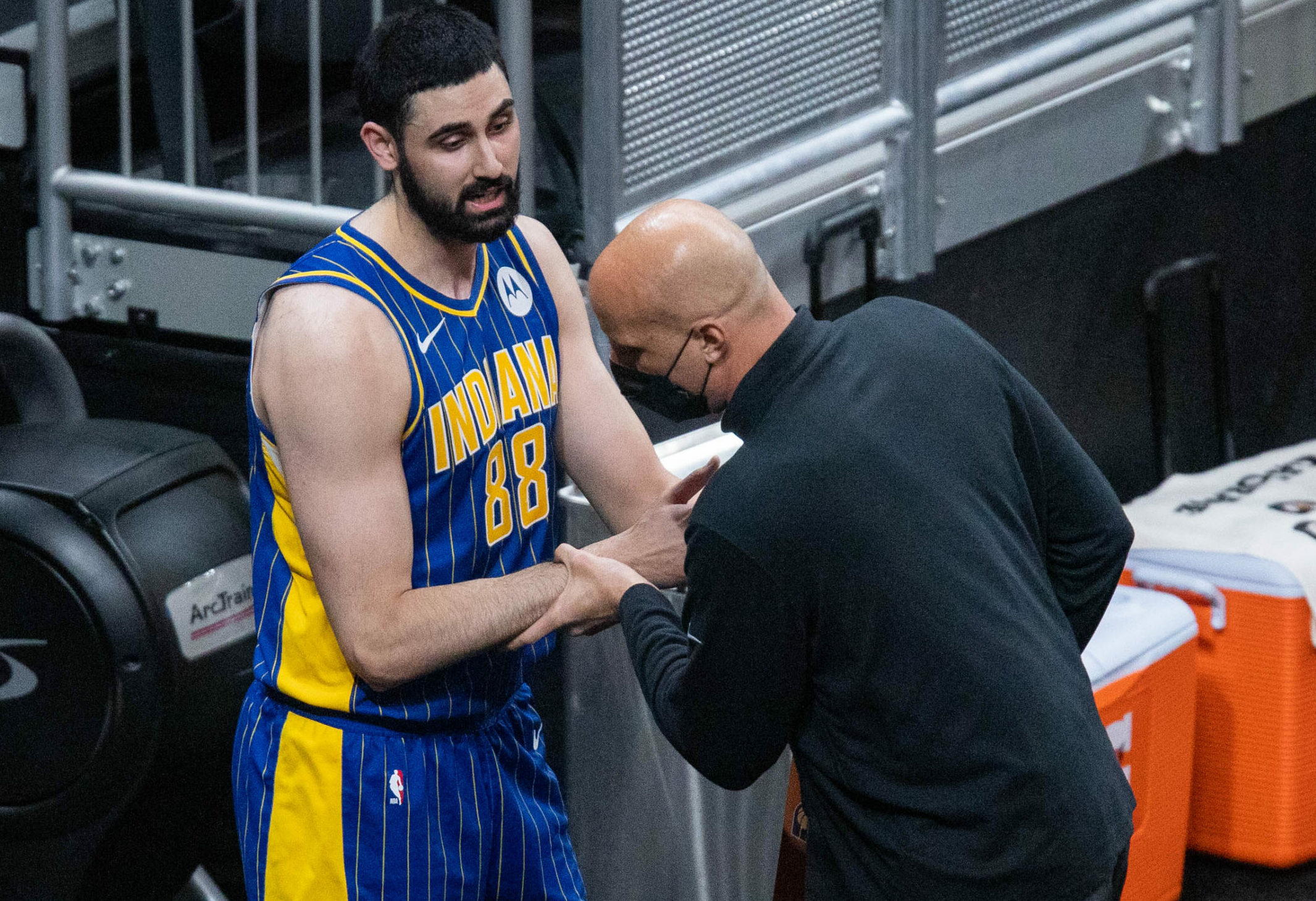 Pacers suspend assistant coach Greg Foster, fine Goga Bitadze after dust-up