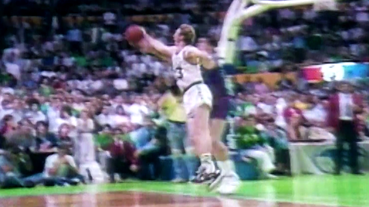 Top Moments: Larry Bird's steal saves Celtics against Pistons