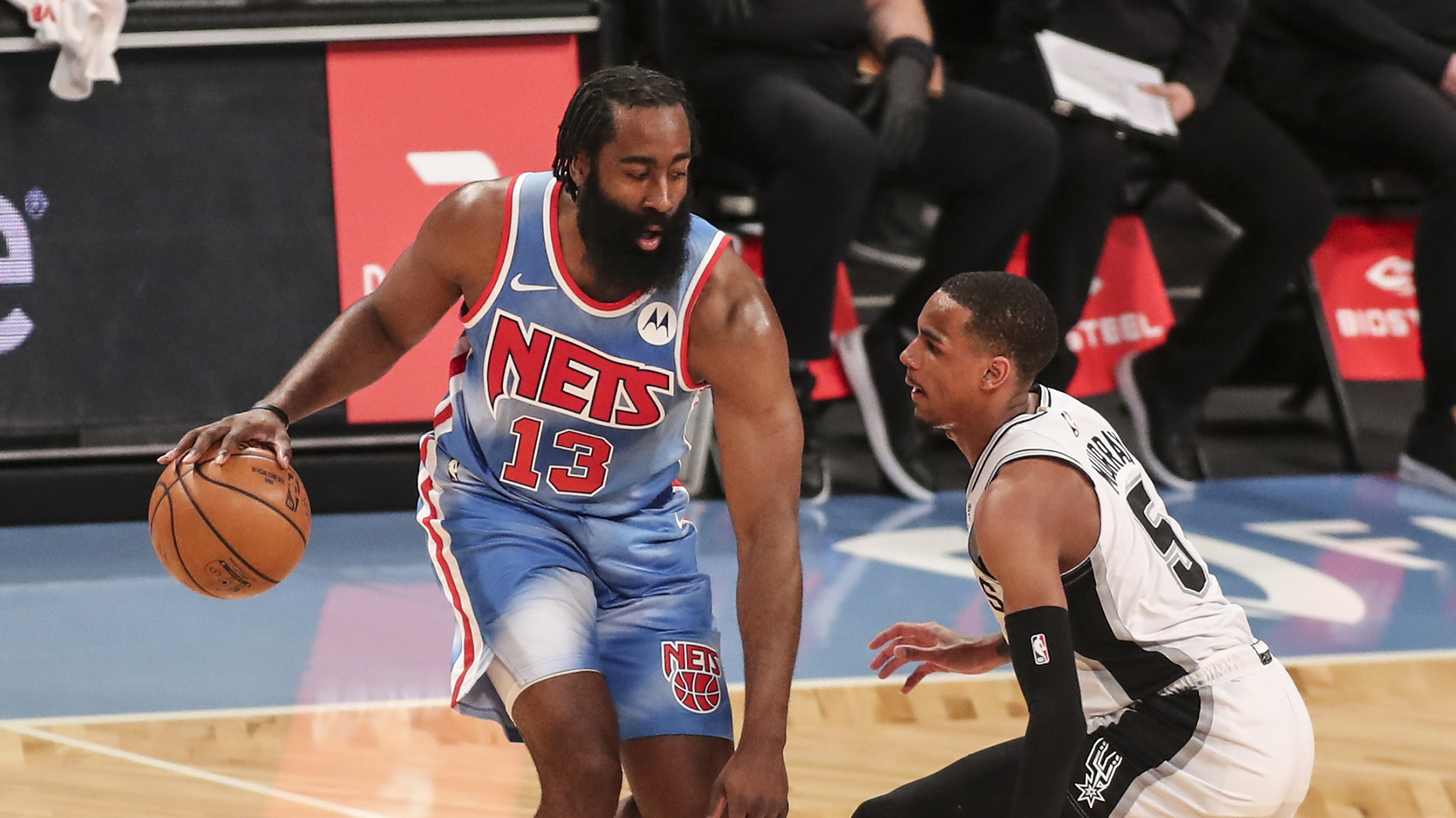 Harden does bit of everything in return as Nets cruise