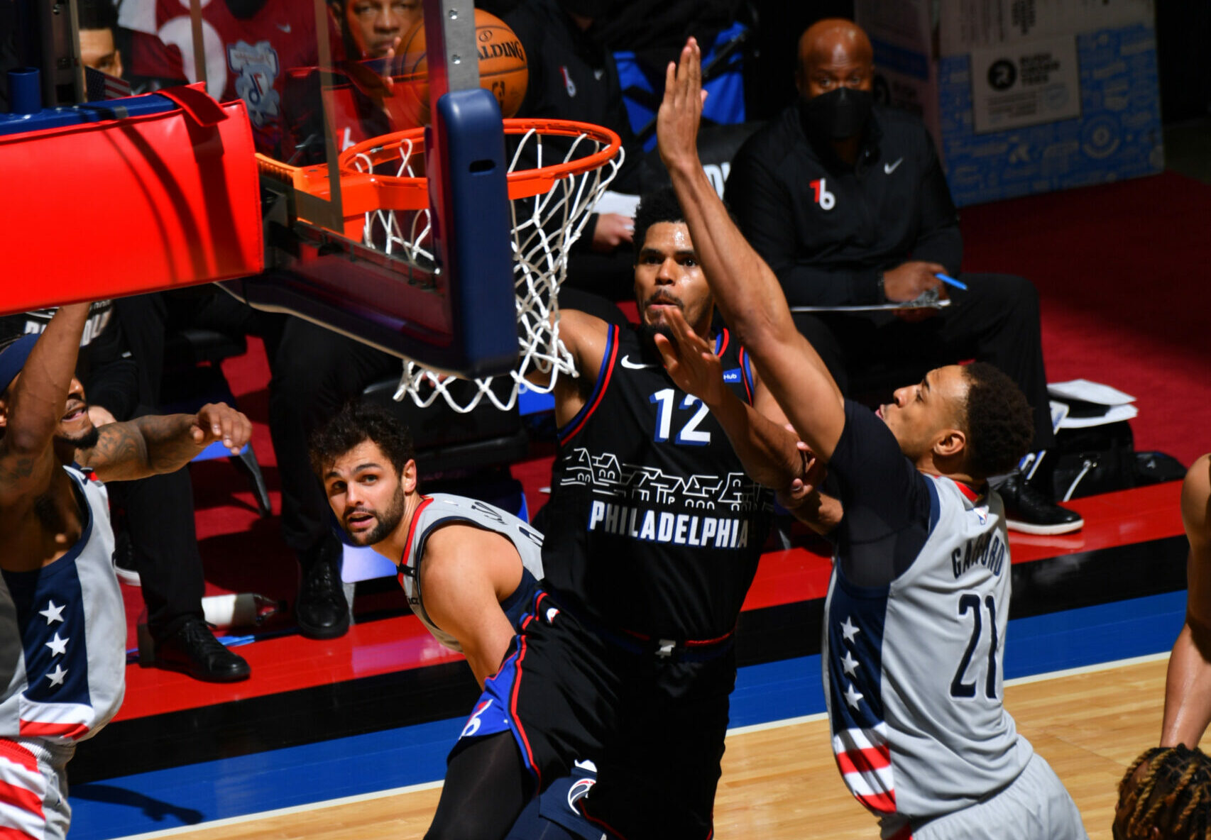 Tobias Harris steps up for Philadelphia 76ers in Game 1