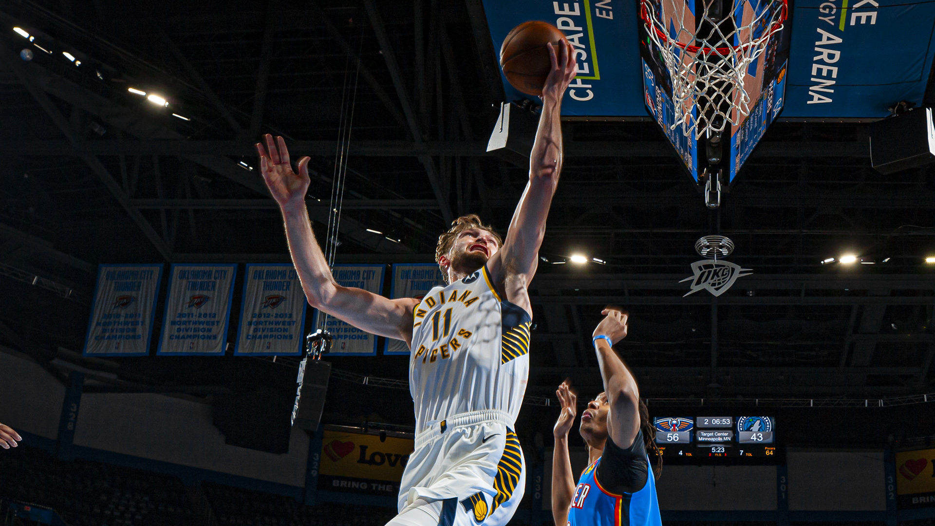 Domantas Sabonis records triple-double vs. Thunder