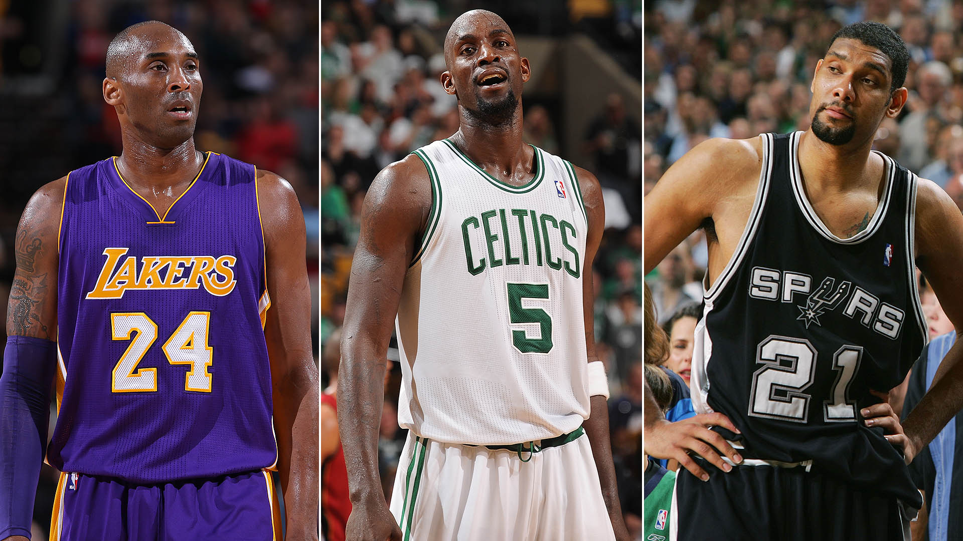 60 things to know about Kobe Bryant, Tim Duncan and Kevin Garnett