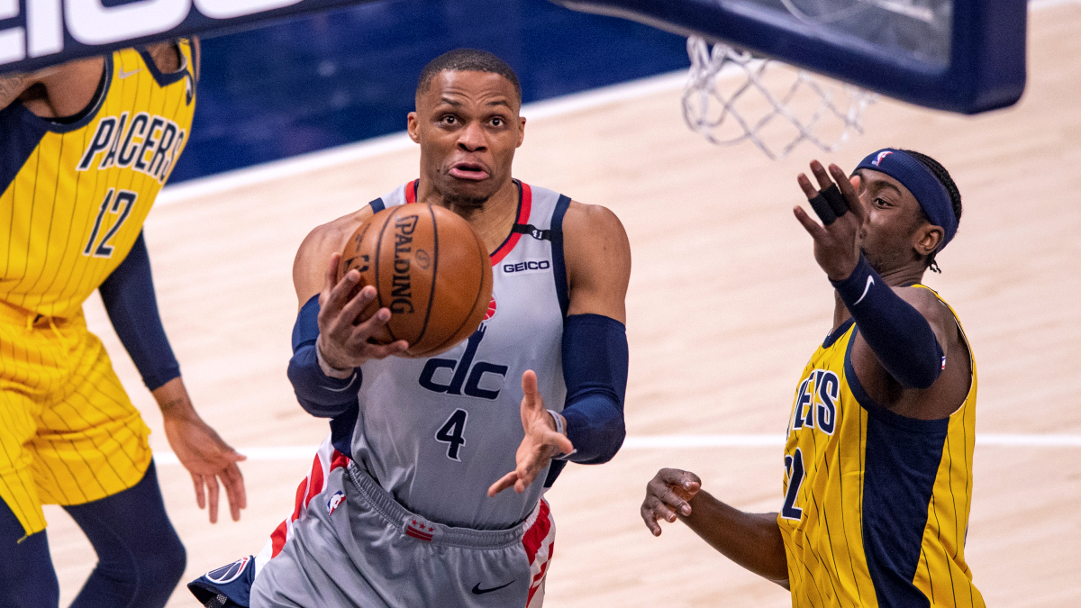 Westbrook equals Robertson, leads Wizards to victory