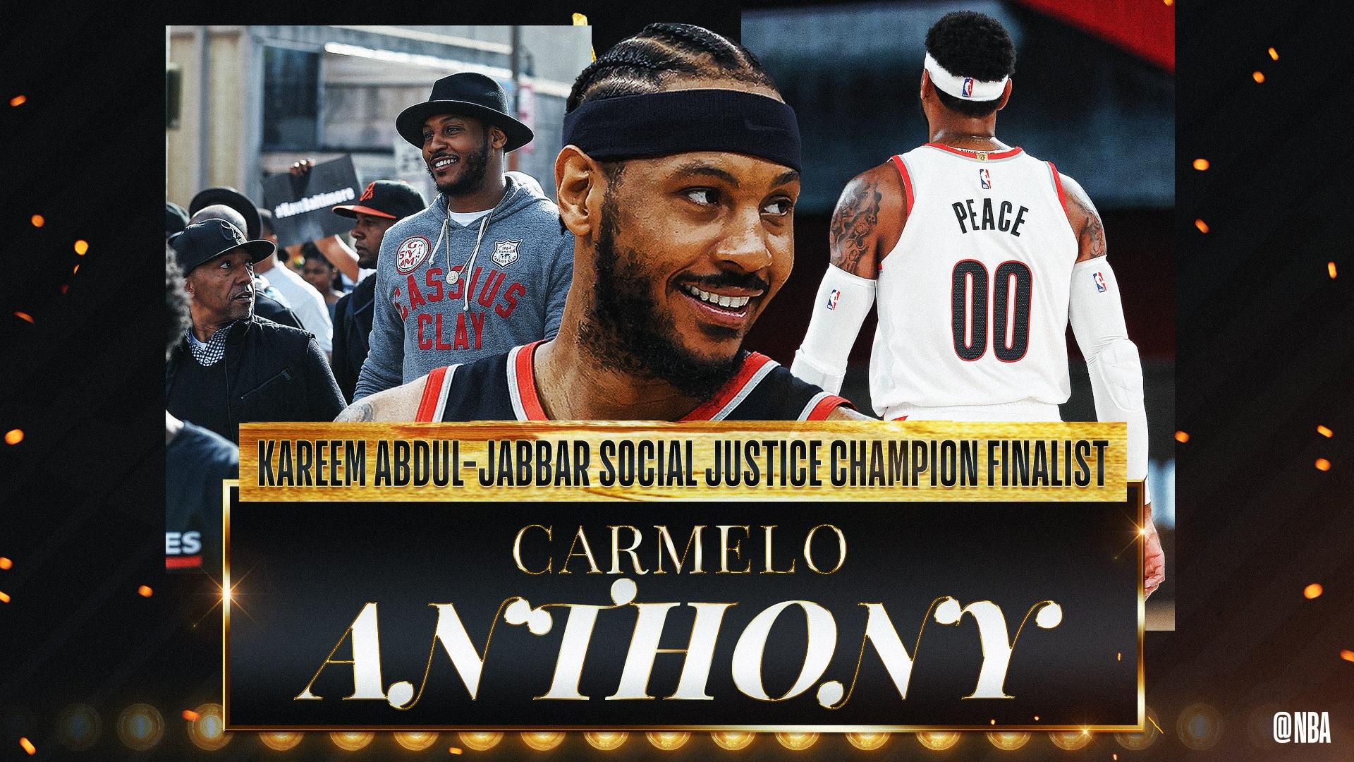 Kareem Abdul-Jabbar Social Justice Champion Finalist: Carmelo Anthony