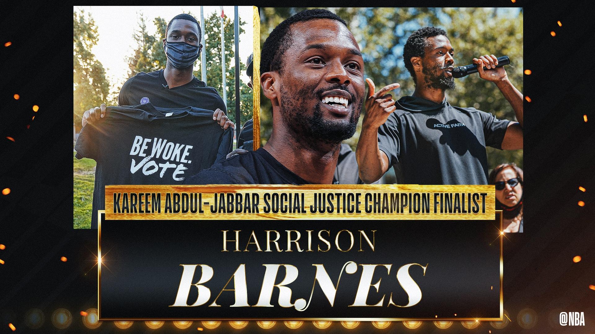 Kareem Abdul-Jabbar Social Justice Champion Finalist: Harrison Barnes