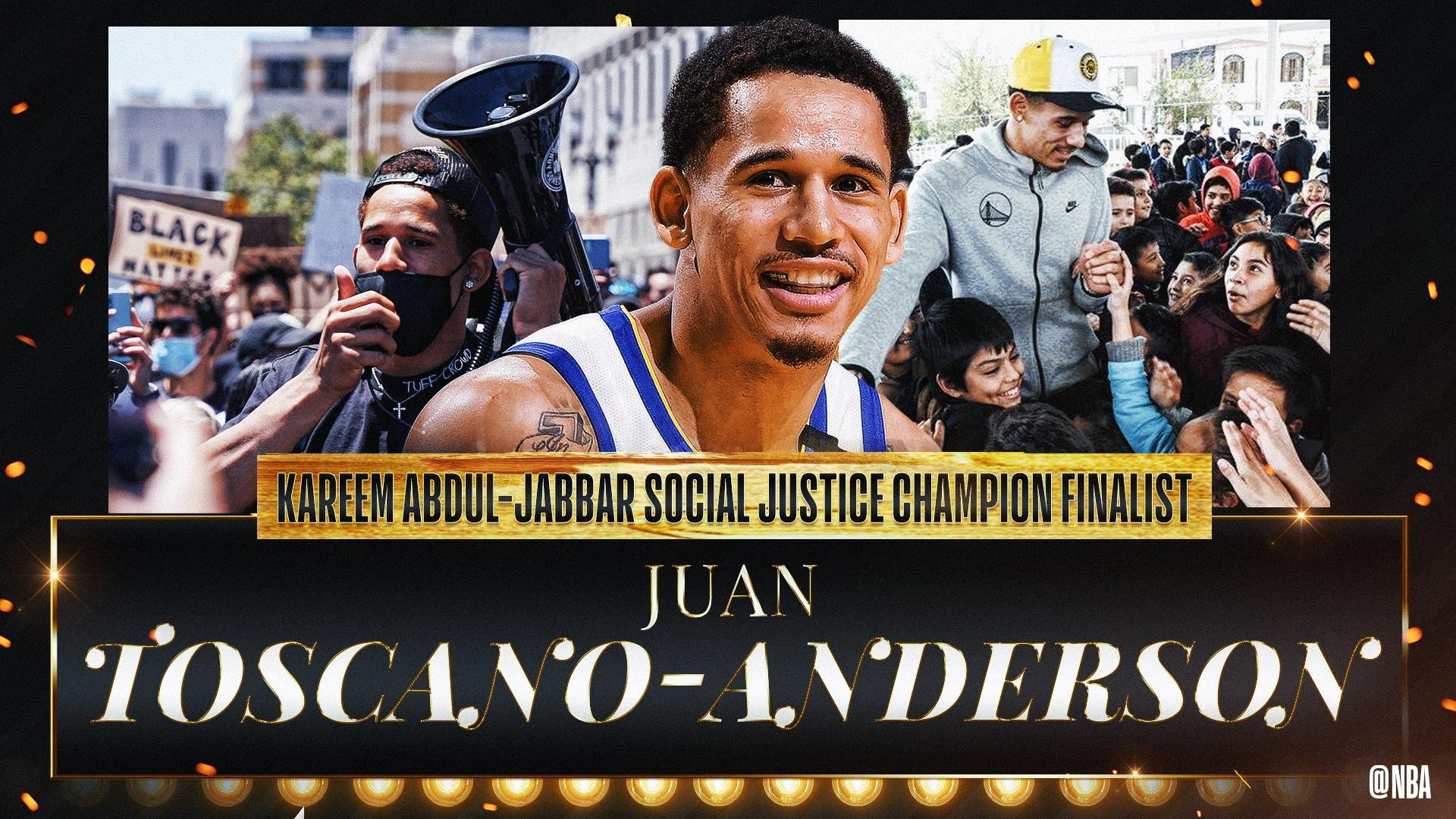 Kareem Abdul-Jabbar Social Justice Champion Finalist: Juan Toscano-Anderson