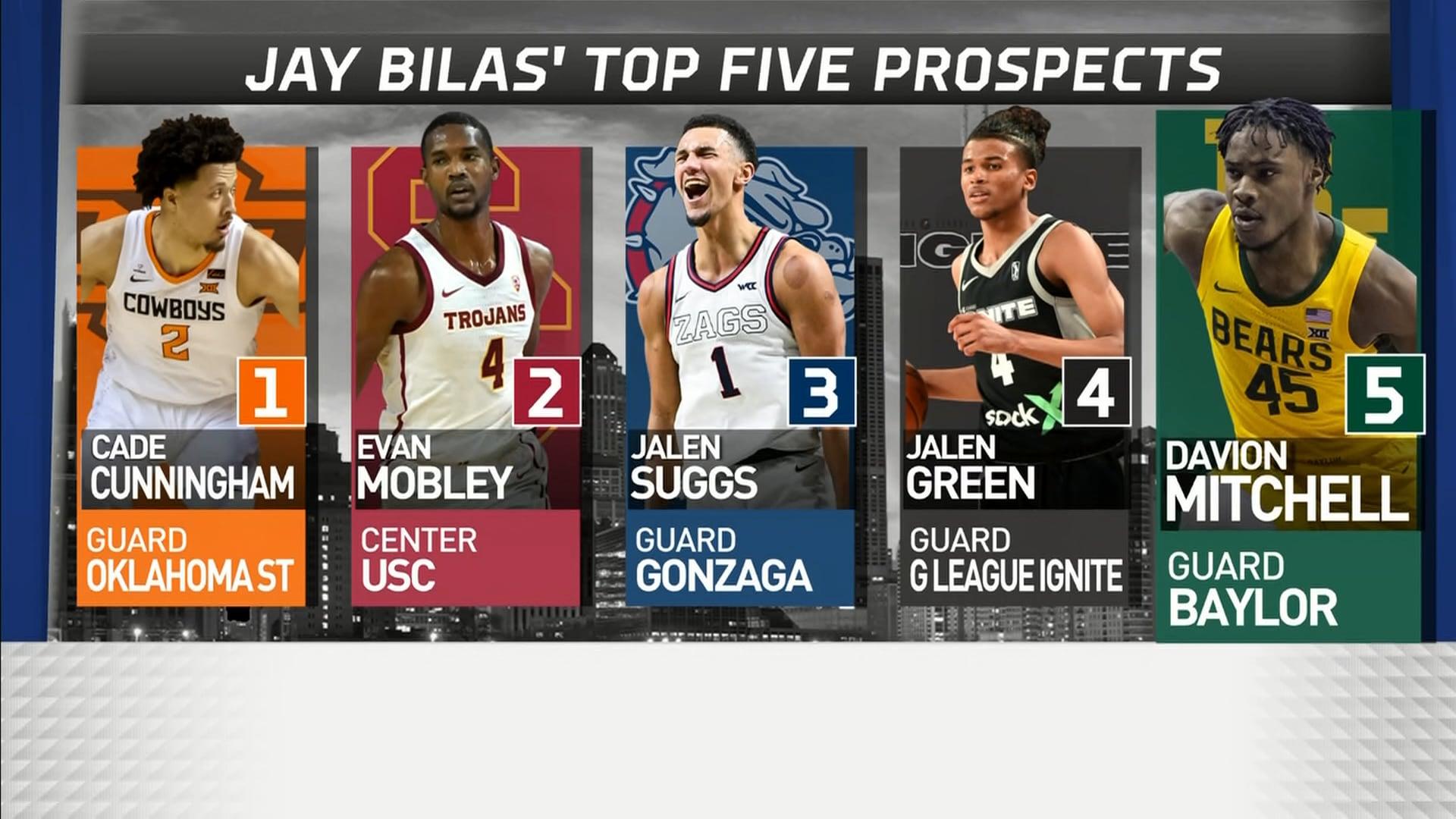 Jay Bilas' Top 5 prospects