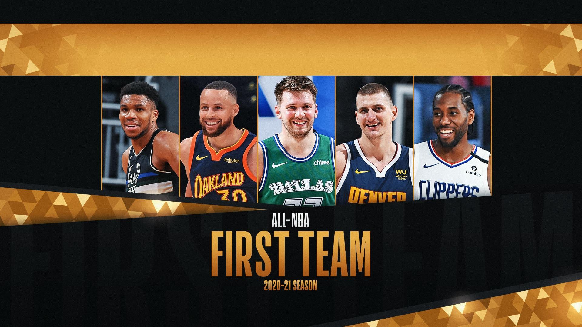 Nikola Jokic, Giannis Antetokounmpo, Stephen Curry lead 2020-21 All-NBA First Team