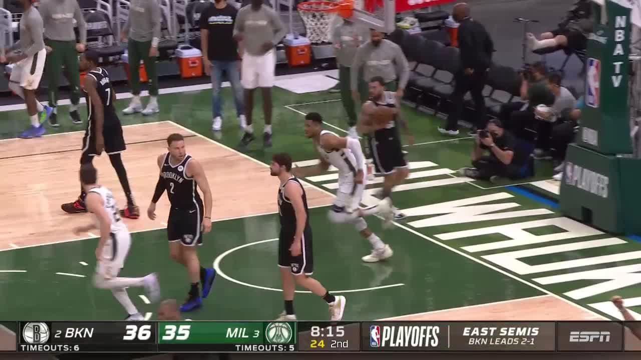 Milwaukee Bucks with a 12-0 Run vs. Brooklyn Nets