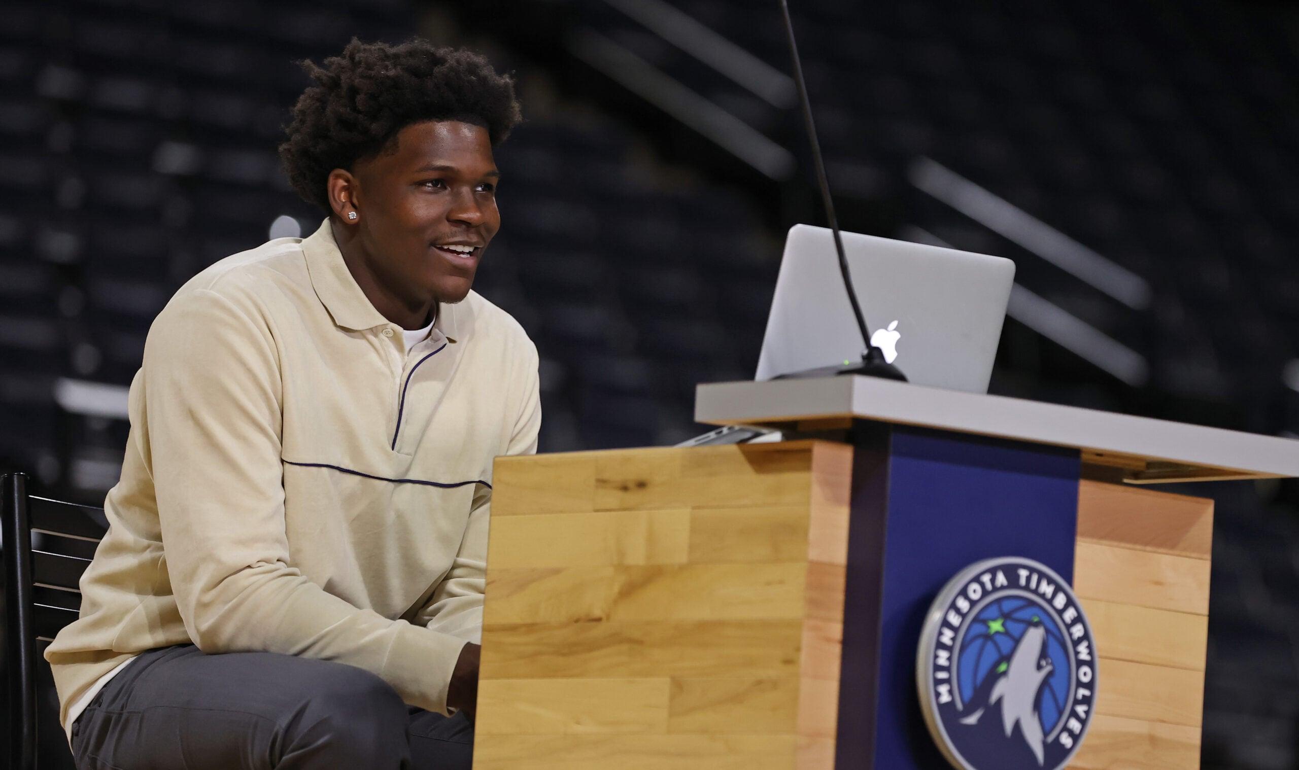 Anthony Edwards, Hakeem Olajuwon among Draft Lottery team representatives