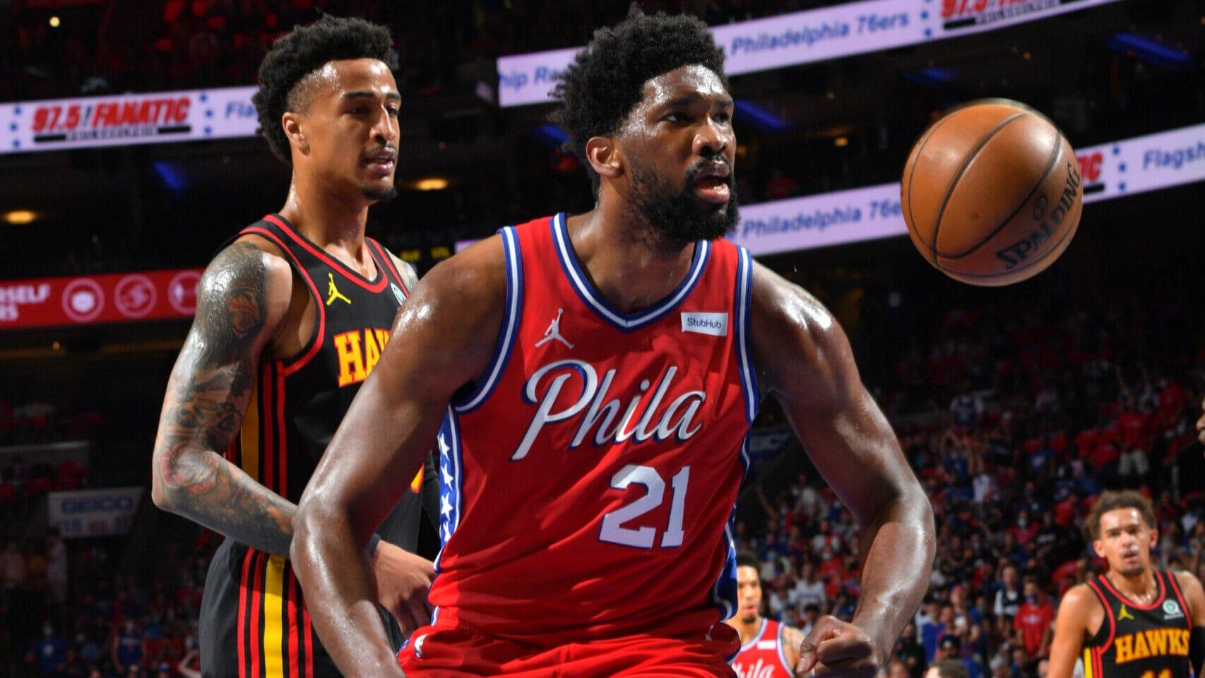 Hawks remain confident vs. 76ers despite Embiid's dominance