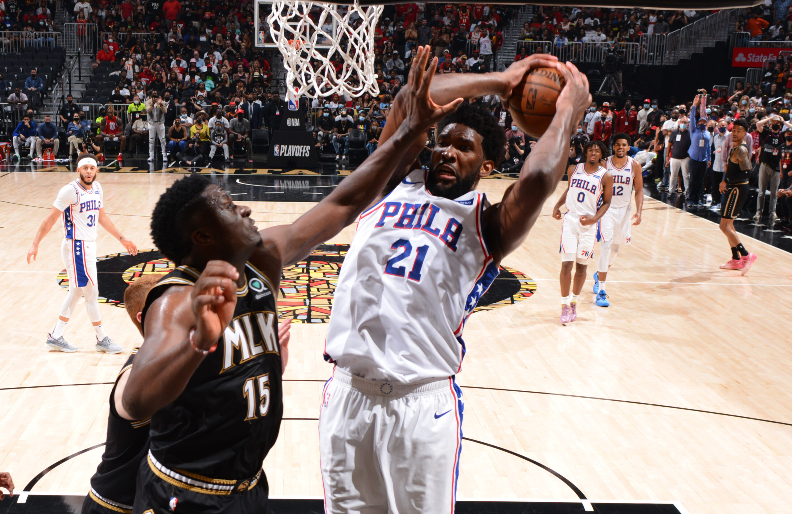 Sixers fend off Hawks, force Game 7