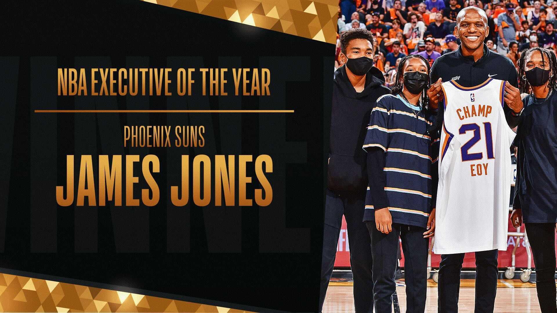 Phoenix's James Jones wins 2020-21 NBA Basketball Executive of the Year award