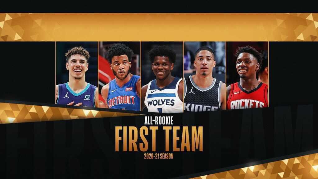 LaMelo Ball, Anthony Edwards headline 2020-21 NBA All-Rookie Teams