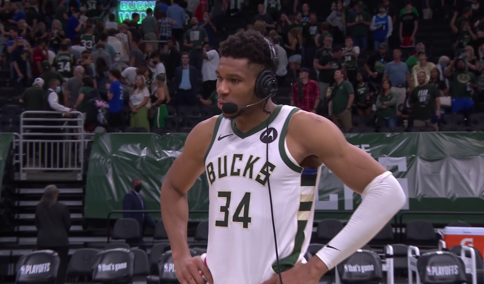 Giannis: 'We're going back to (Brooklyn) to try to take care of business'