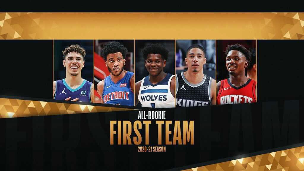 Ball, Edwards lead 2020-21 NBA All-Rookie First Team