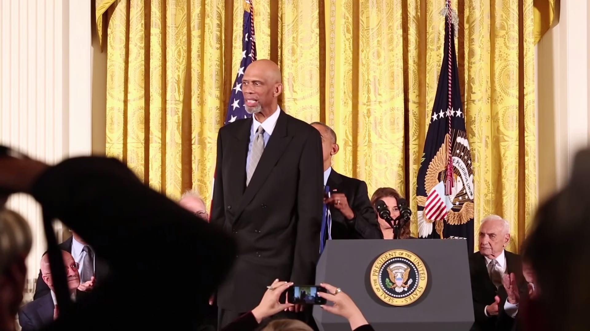 Kareem Abdul-Jabbar Receives the Presidential Medal of Freedom