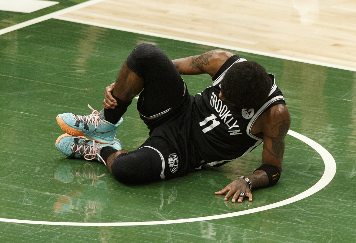 Kyrie Irving exits Game 4 with right ankle sprain