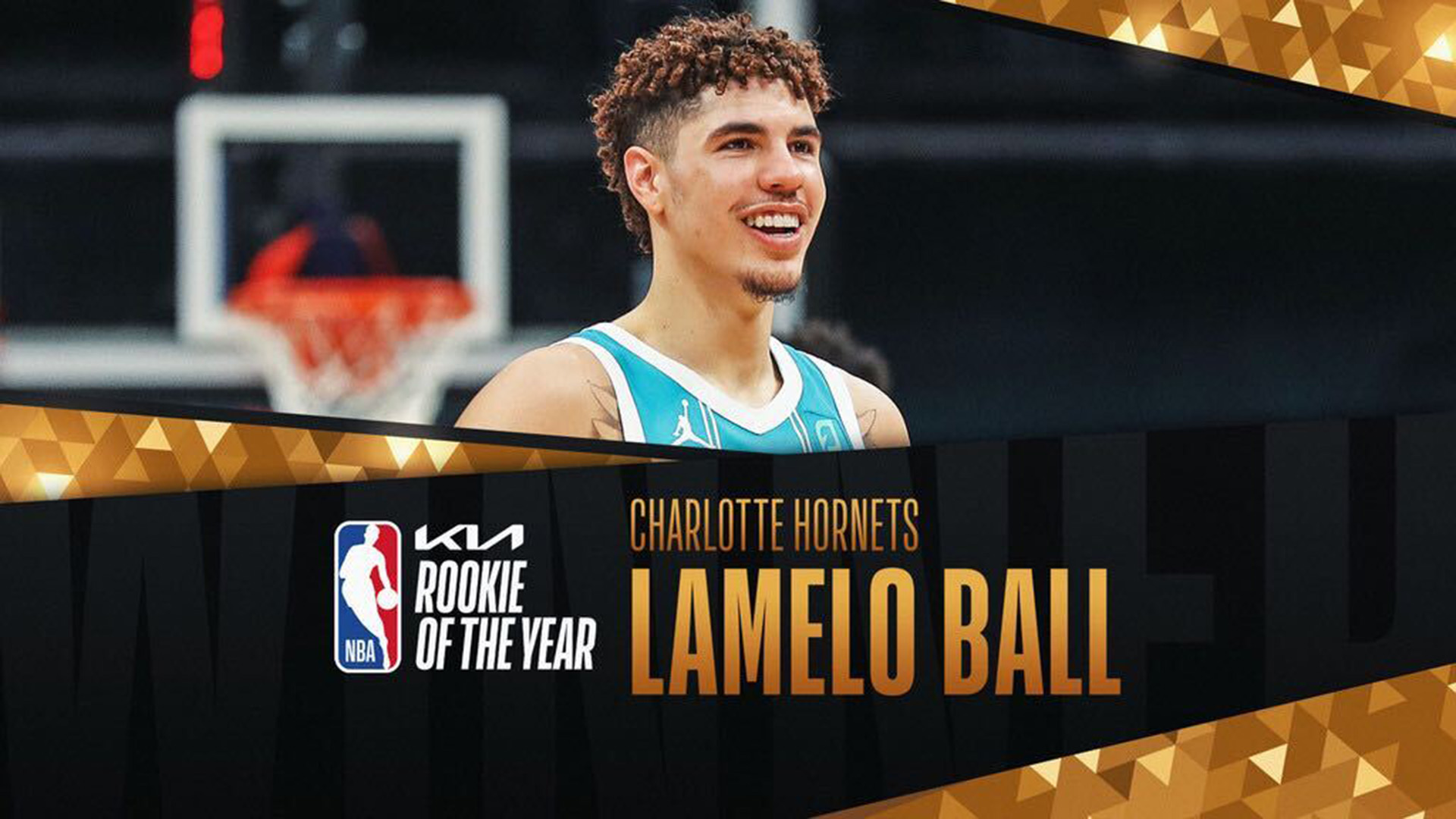 Hornets' LaMelo Ball wins 2020-21 Kia NBA Rookie of the Year