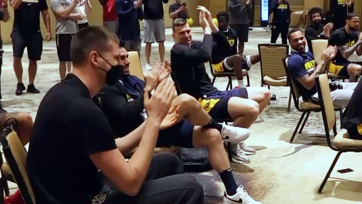 Inside the NBA: Commissioner Silver congratulates Nikola Jokic on MVP award