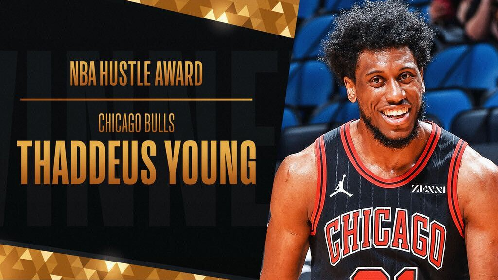 Bulls' Thaddeus Young wins 2020-21 NBA Hustle Award