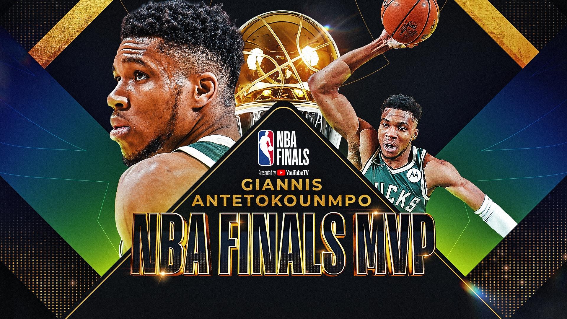 Giannis Antetokounmpo wins 2021 Bill Russell NBA Finals MVP award