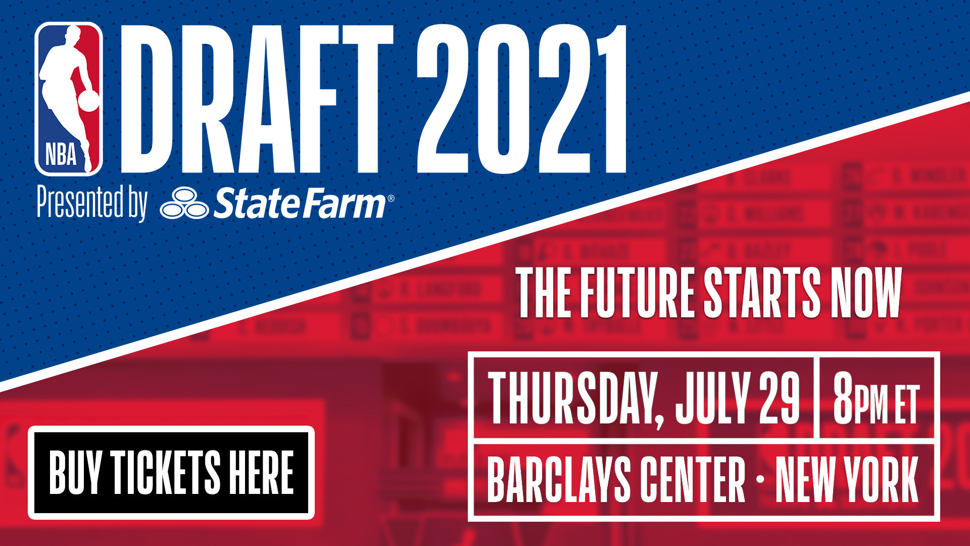 Tickets on sale for 2021 Draft at Barclays Center