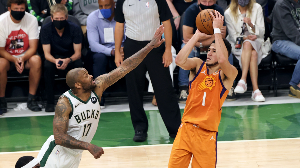 Devin Booker sets NBA record for most points in 1st postseason