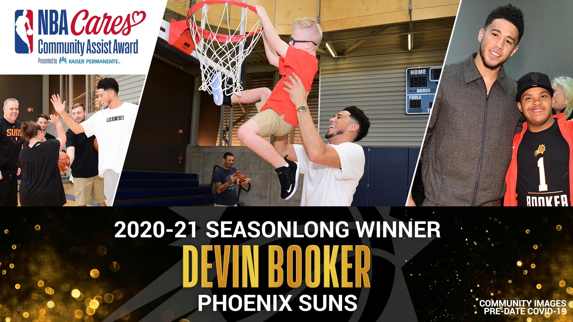 Devin Booker named Seasonlong NBA Cares Community Assist Award winner