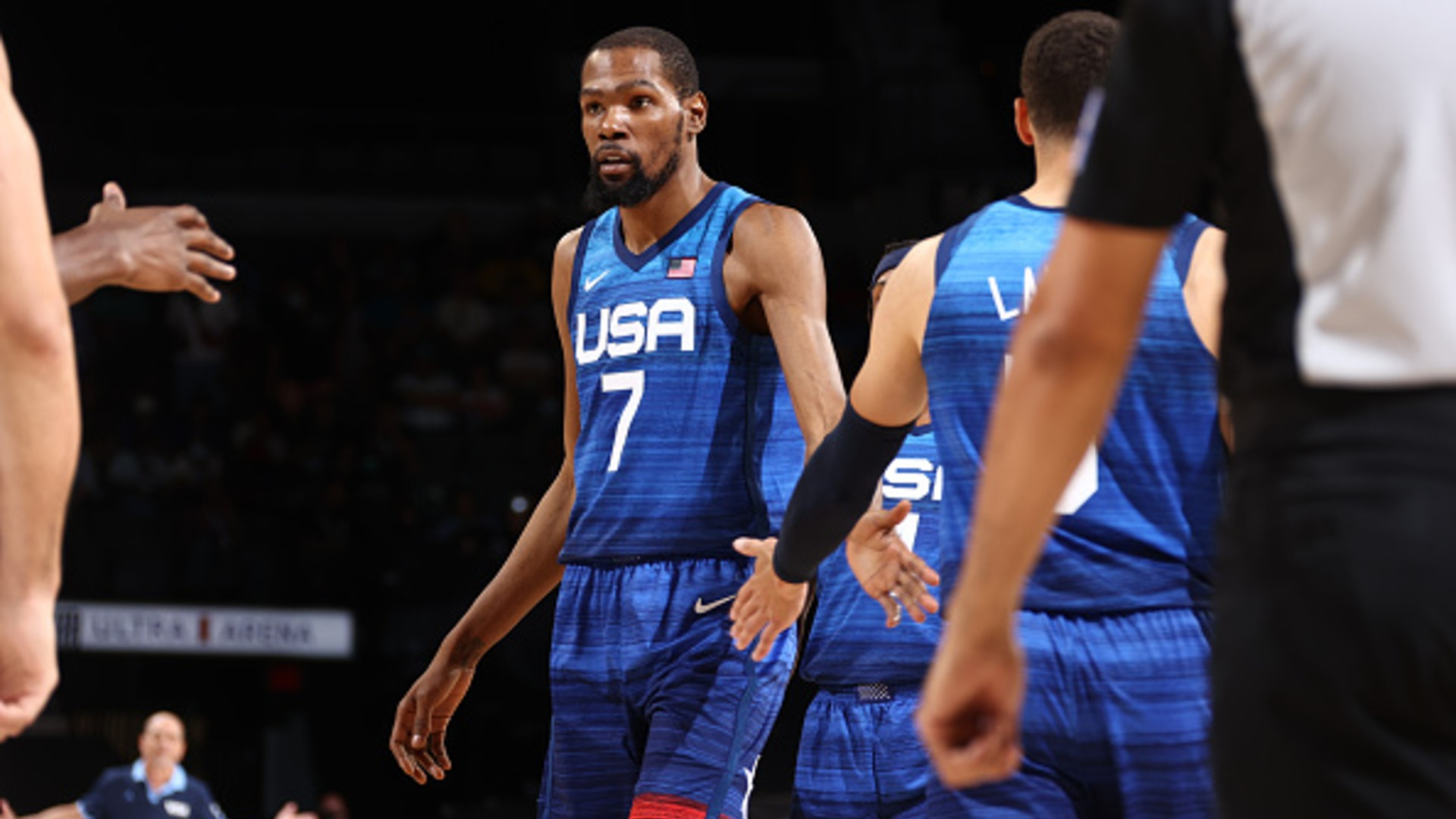 USA routs Argentina for 1st exhibition win