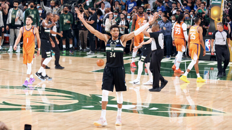 Giannis Antetokounmpo saves best for last, leads Bucks to first NBA title in 50 years