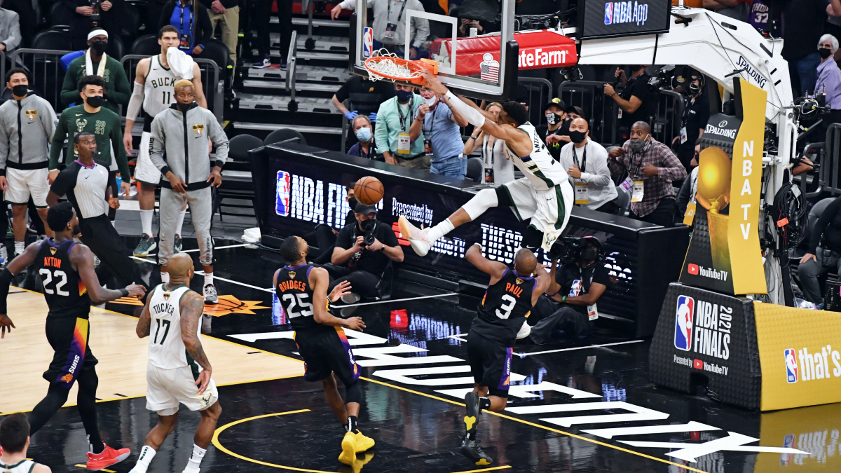 Bucks overcome slow start, move 1 win from title