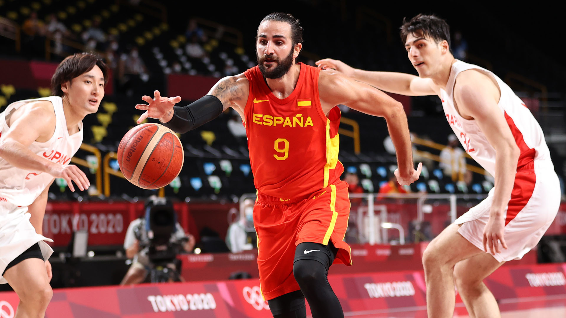 Spain gets commanding win in Olympic opener against Japan