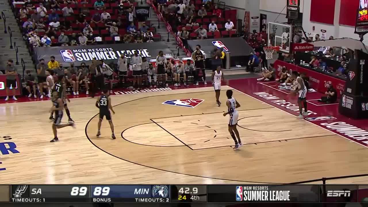 Devin Vassell with 15 Points in the 4th Quarter vs. Minnesota Timberwolves