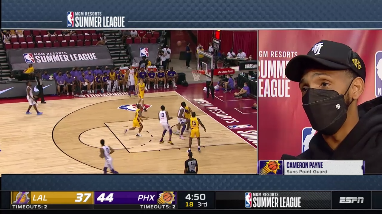 Cameron Payne joins broadcast during Suns Summer League game