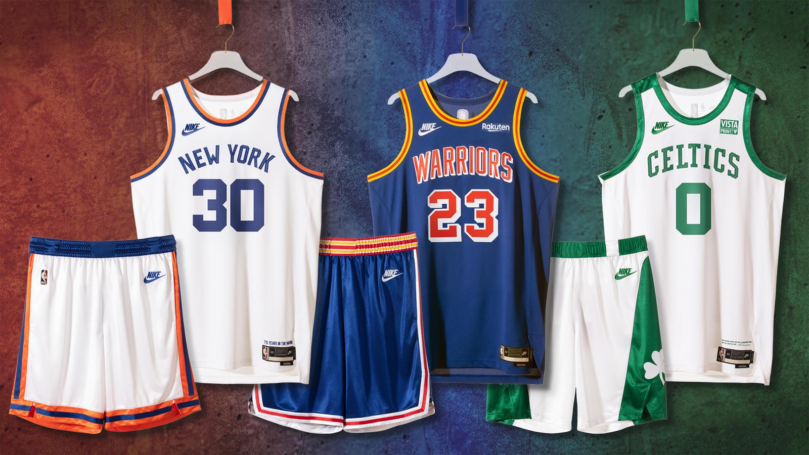 Knicks, Celtics and Warriors unveil Nike Classic Edition uniforms