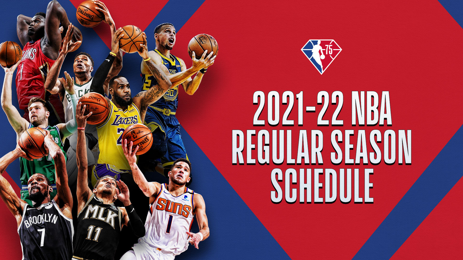 NBA announces schedule for 75th Anniversary Season