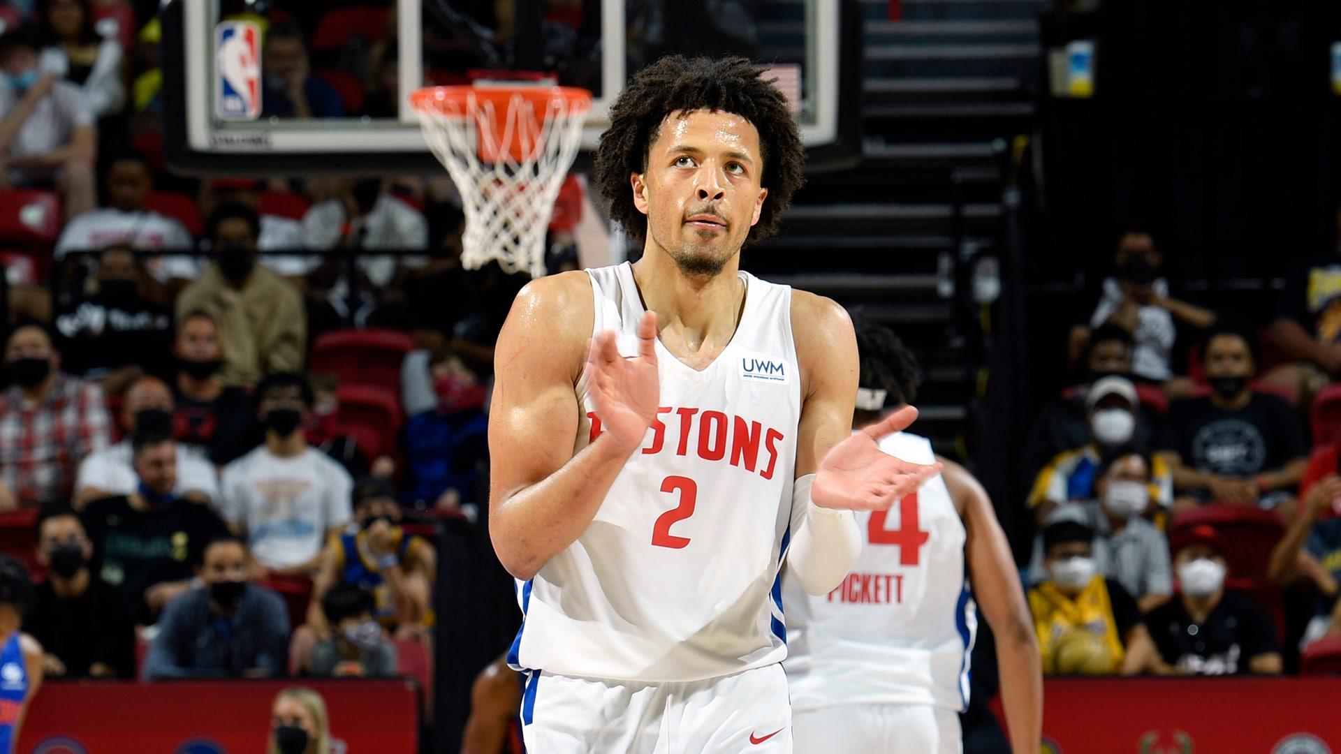 Las Vegas Summer League: Cade Cunningham helps Pistons hold off Knicks