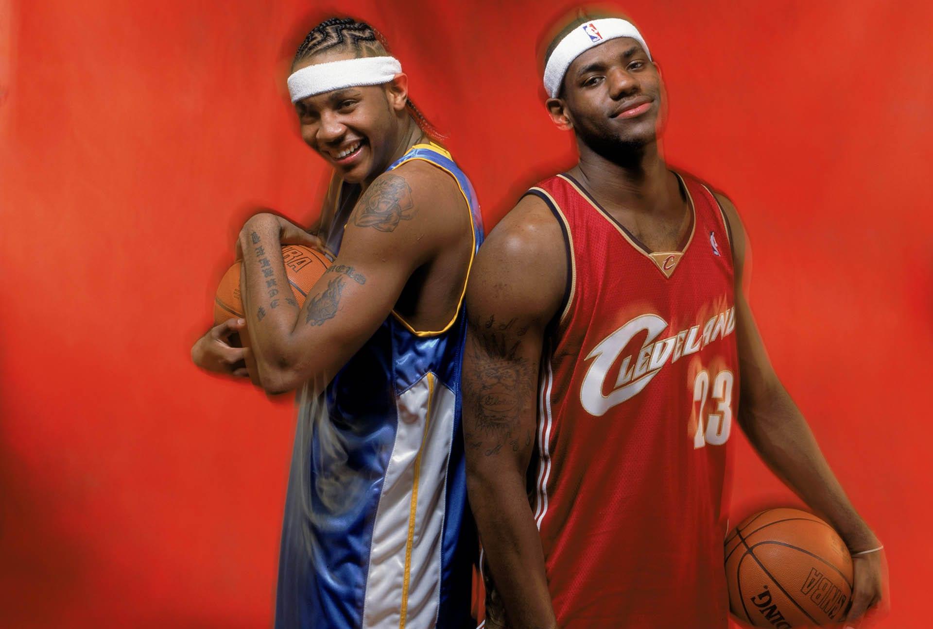 Photos: LeBron James & Carmelo Anthony through the years