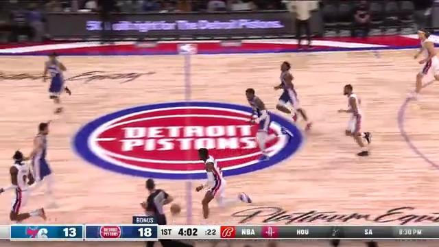 Jerami Grant finishes through contact and makes floater
