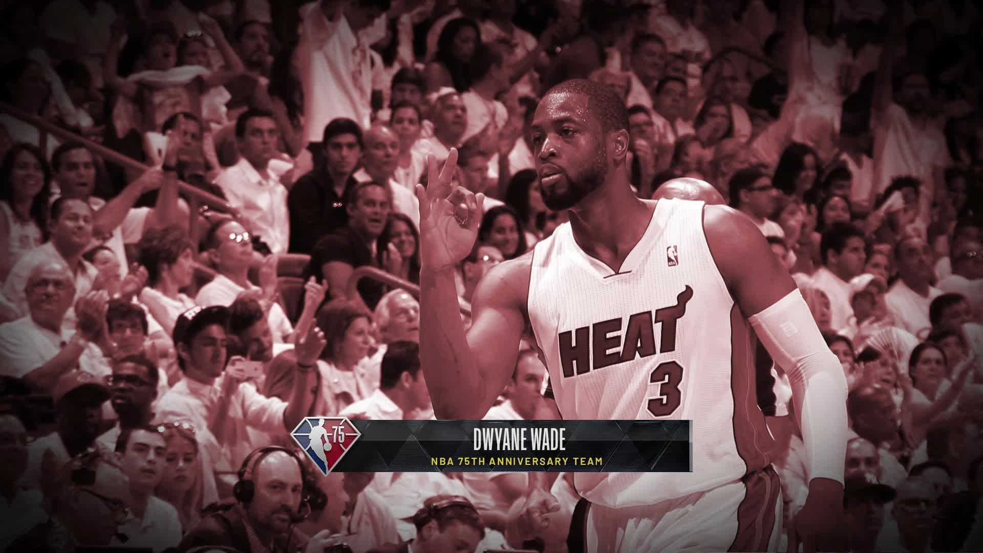 Dwyane Wade reacts to being added to 75 team