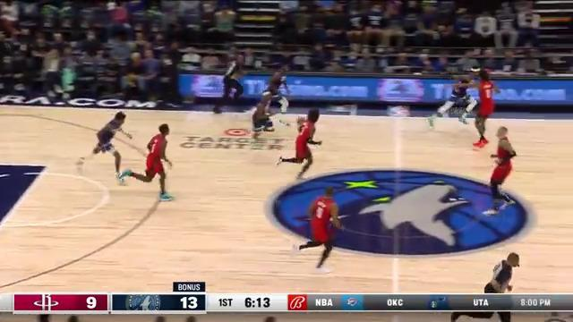 Anthony Edwards with the double clutch layup
