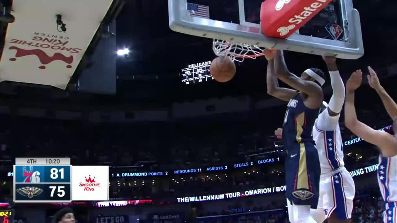 Top Plays from New Orleans Pelicans vs. Philadelphia 76ers 10-20-2021