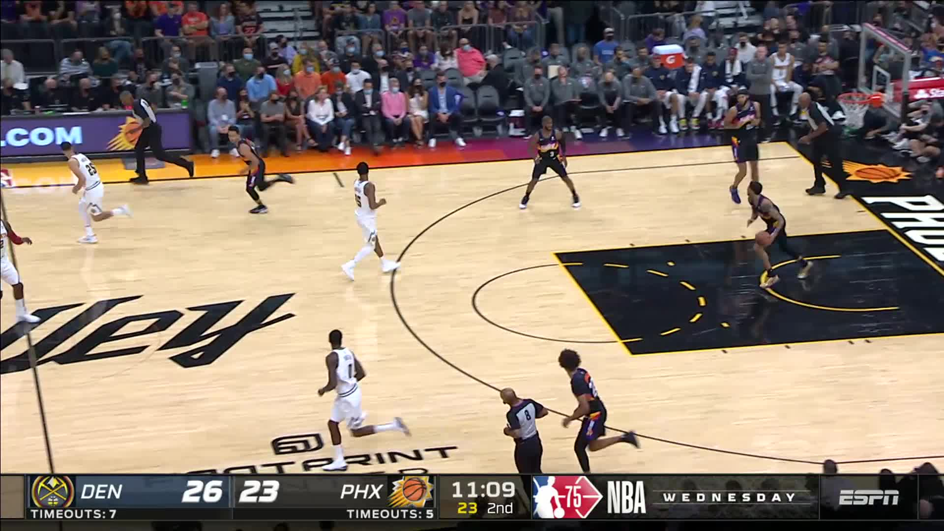 Assist by Chris Paul to JaVale McGee who floats it in
