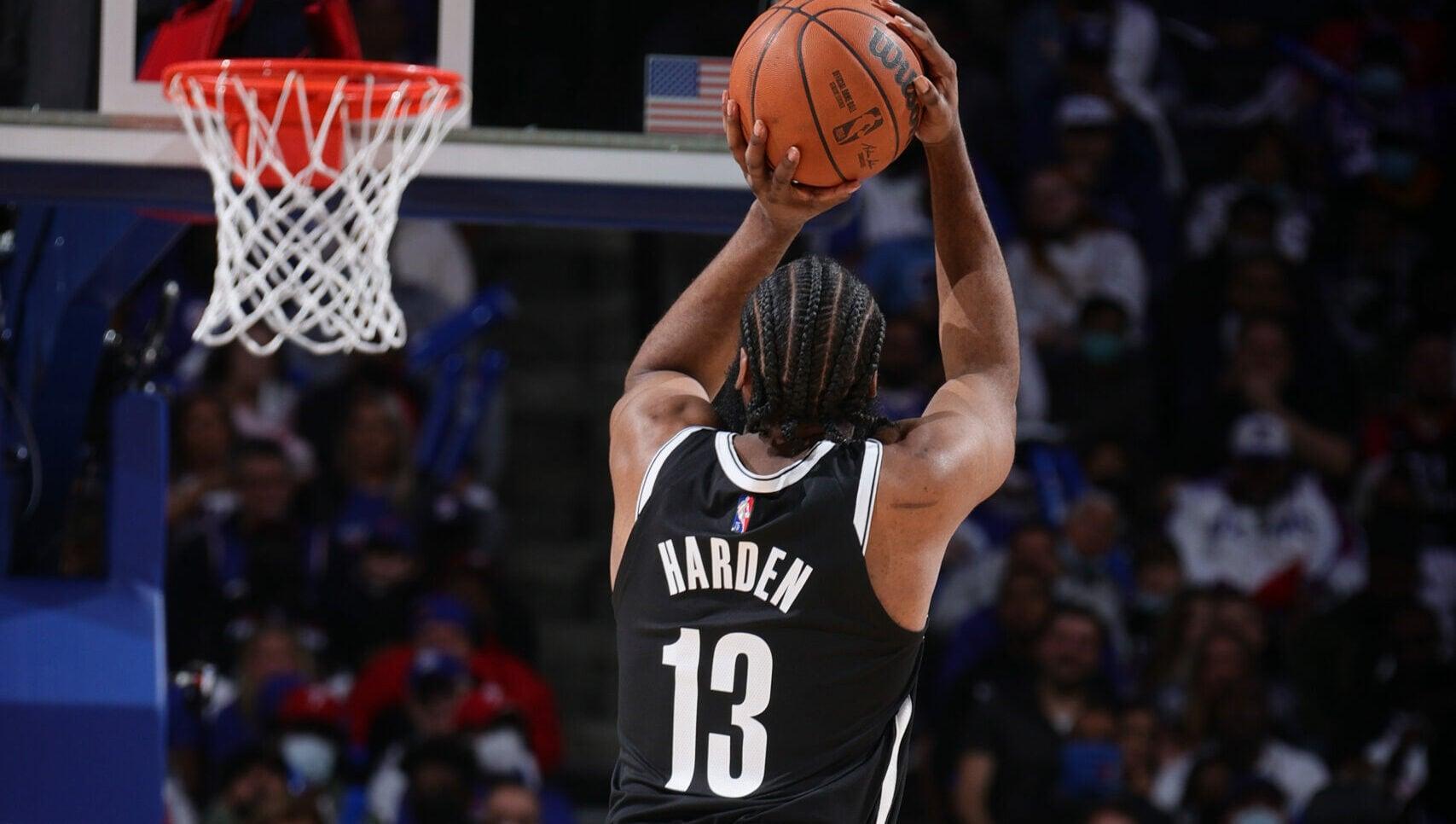 Nets guard James Harden claims 4th on career 3s list
