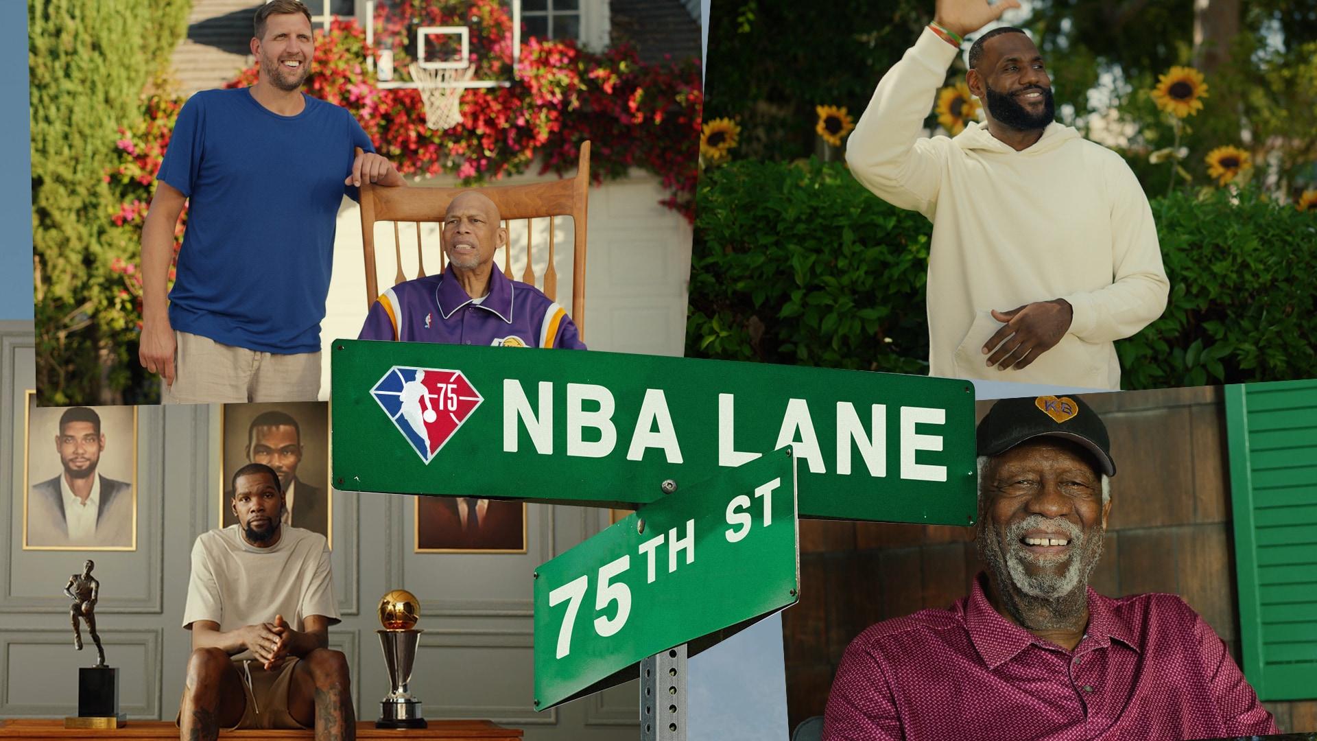 Welcome to NBA Lane   #NBA75