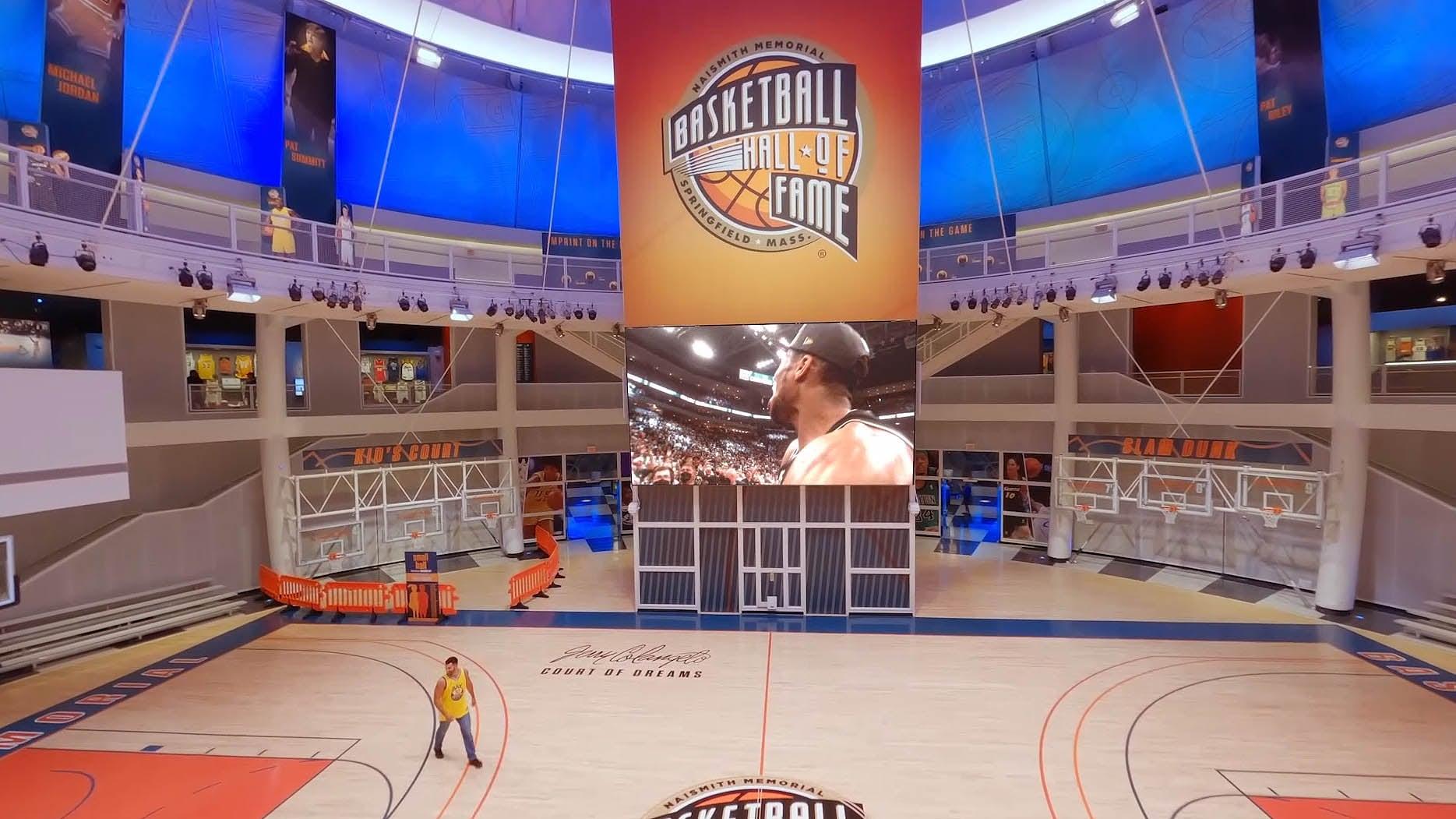 The Basketball Hall of Fame intros the NBA's 75th Anniversary season