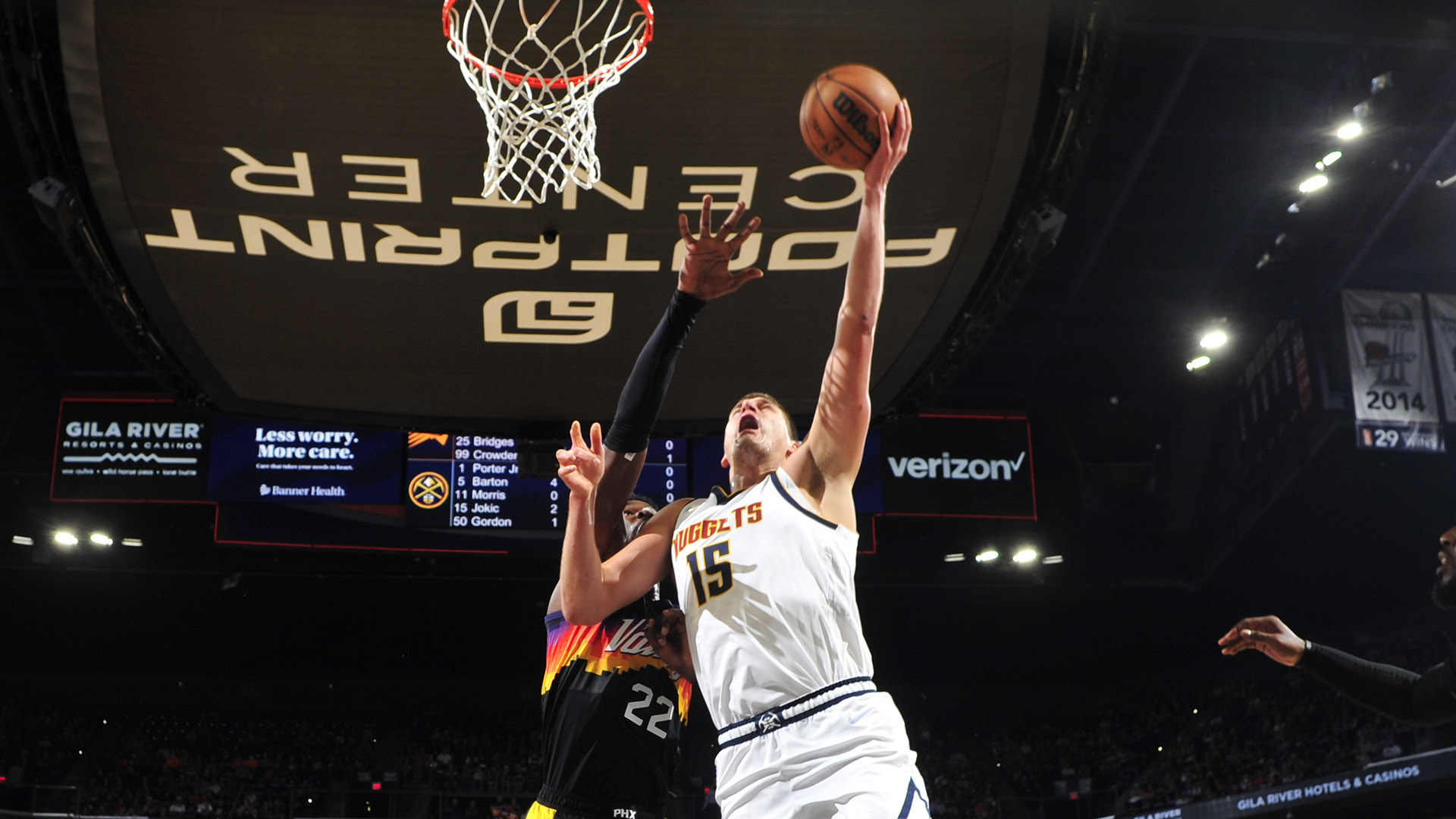 Nuggets use strong 2nd half to pull away from Suns