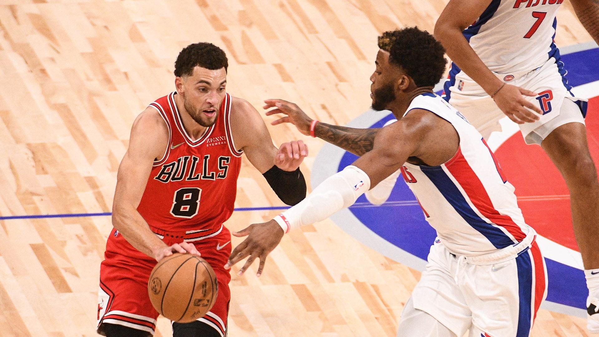 Behind LaVine, new-look Bulls edge Pistons in opener